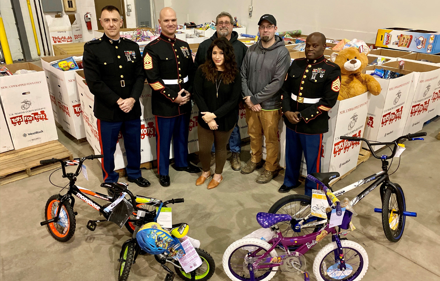 Mericle Tenants and Employees join forces to support USMC Toys for Tots